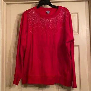 Red Sparkle Sweatshirt